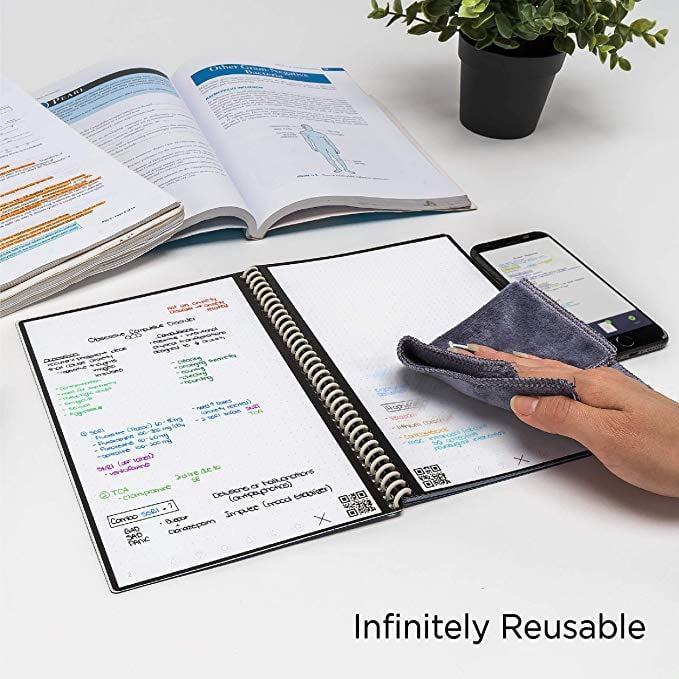 <p>This <span>Rocketbook Everlast Smart Reusable Notebook</span> ($25, originally $30) will be their new favorite gadget. You can export the pages of the notebook to your email or Google Docs, and then just wipe them clean and start all over.</p>