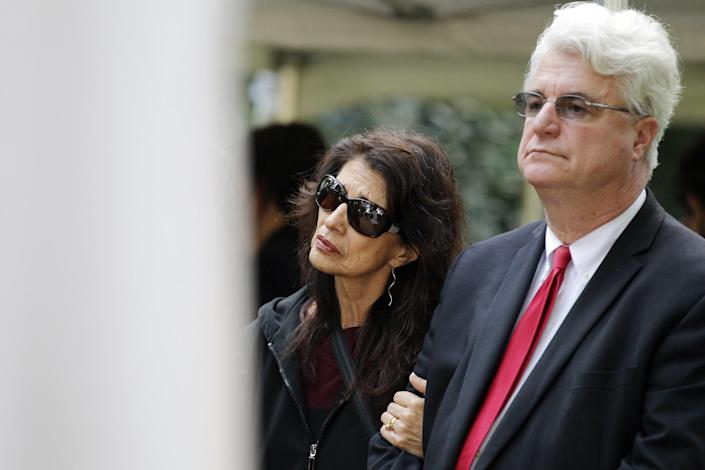 Image: Diane and John Foley, the parents of journalist James Foley (CHARLY TRIBALLEAU / AFP - Getty Images, file)