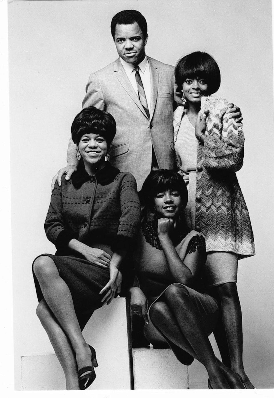 """<p>After an introduction to a Motown Records executive, the group caught the eye of <a href=""""https://www.notablebiographies.com/Ro-Sc/Ross-Diana.html"""" rel=""""nofollow noopener"""" target=""""_blank"""" data-ylk=""""slk:founder Berry Gordy"""" class=""""link rapid-noclick-resp"""">founder Berry Gordy</a>, then signed a record deal with the label in 1961. They officially changed their name to the Supremes not long after, and became a trio when <a href=""""https://www.grammy.com/grammys/news/barbara-martin-original-singer-supremes-dies-76"""" rel=""""nofollow noopener"""" target=""""_blank"""" data-ylk=""""slk:Barbara Martin dropped out"""" class=""""link rapid-noclick-resp"""">Barbara Martin dropped out</a>. </p>"""
