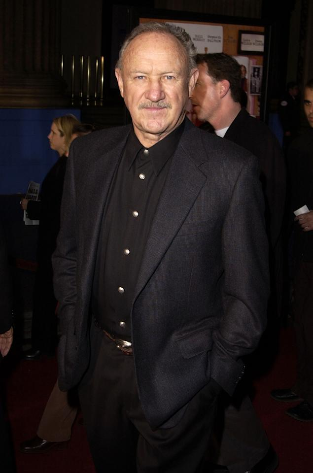"Since retiring from acting in 2004, two-time Oscar winner Gene Hackman has co-authored two critically-acclaimed books with undersea archaeologist Daniel Lenihan, <i>Justice for None</i> and <i>Escape from Andersonville</i>. The duo's first novel, <i>Wake of the Perdido Star</i> appeared in 1999. S. Granitz/<a href=""http://www.wireimage.com"" target=""new"">WireImage.com</a> - December 6, 2001"