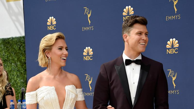 Scarlett Johansson and Colin Jost Look So in Love at First Emmys Together