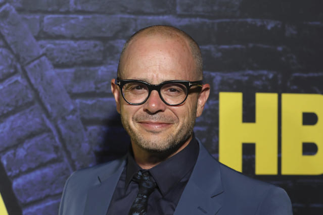 """Damon Lindelof attends the """"Watchmen,"""" premiere at the Cinerama Dome, Monday, Oct. 14, 2019, in Los Angeles. (Photo by Mark Von Holden/Invision/AP)"""