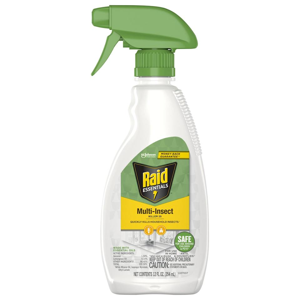 """<p>Trust us, this summer, you'll be happy to have this <a href=""""https://www.walmart.com/ip/Raid-Essentials-Multi-Insect-Killer-29-12-oz-Trigger-Spray/608947748"""" class=""""link rapid-noclick-resp"""" rel=""""nofollow noopener"""" target=""""_blank"""" data-ylk=""""slk:Raid Essentials Multi-Insect Killer"""">Raid Essentials Multi-Insect Killer</a> ($7) on hand.</p>"""