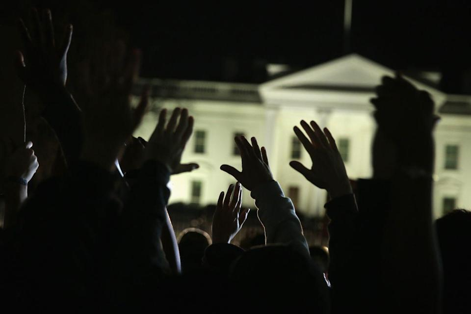 <p>After a grand jury decided that officer Darren Wilson would not be charged in the shooting of Michael Brown in Ferguson, Missouri, protestors headed to Washington to rally around the Black Lives Matter movement and advocate against police brutality.</p>