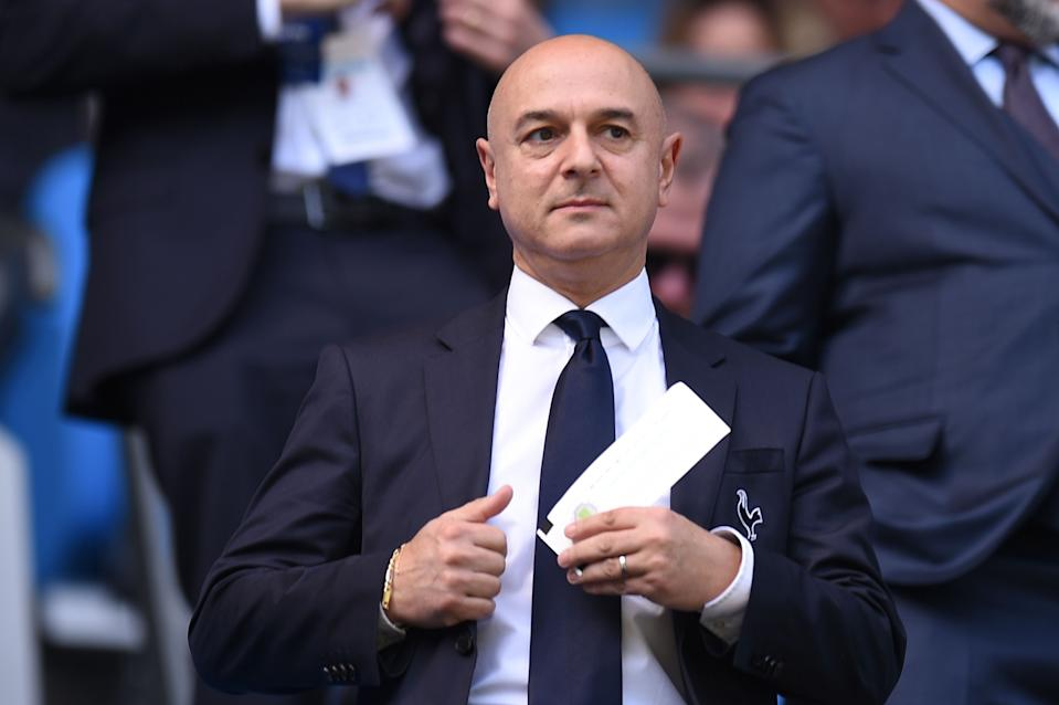 Tottenham Hotspur's English chairman Daniel Levy attends the English Premier League football match between Manchester City and Tottenham Hotspur at the Etihad Stadium in Manchester, north west England, on April 20, 2019. (Photo by Oli SCARFF / AFP) / RESTRICTED TO EDITORIAL USE. No use with unauthorized audio, video, data, fixture lists, club/league logos or 'live' services. Online in-match use limited to 120 images. An additional 40 images may be used in extra time. No video emulation. Social media in-match use limited to 120 images. An additional 40 images may be used in extra time. No use in betting publications, games or single club/league/player publications. /         (Photo credit should read OLI SCARFF/AFP/Getty Images)