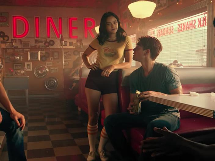 Camila Mendes and KJ Apa as Veronica and Archie.