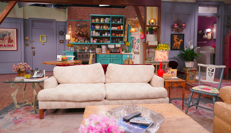 The set for Monica's apartment will play host to a trivia game for the cast of Friends. (PA/HBO Max)