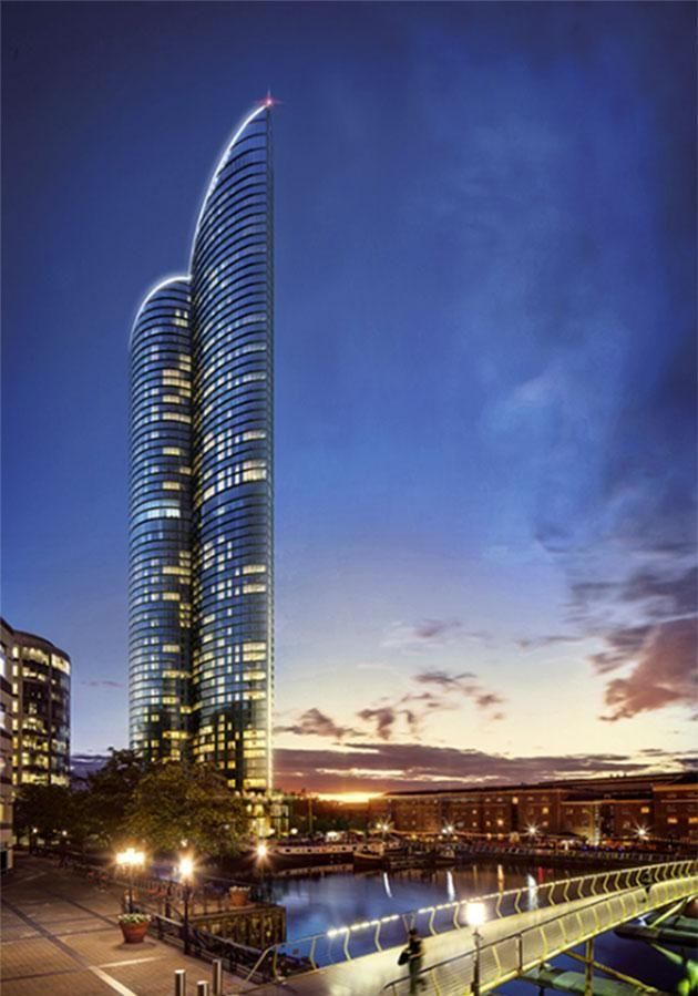 Once it's finished, it will be the tallest residential building in Western Europe. Photo: Greenland Group.
