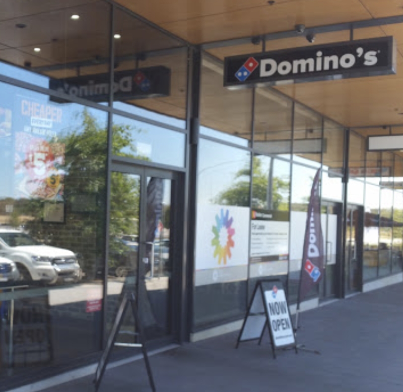 Photo shows Domino's in Casey, Canberra, where an employee saved a customer from self loathing.