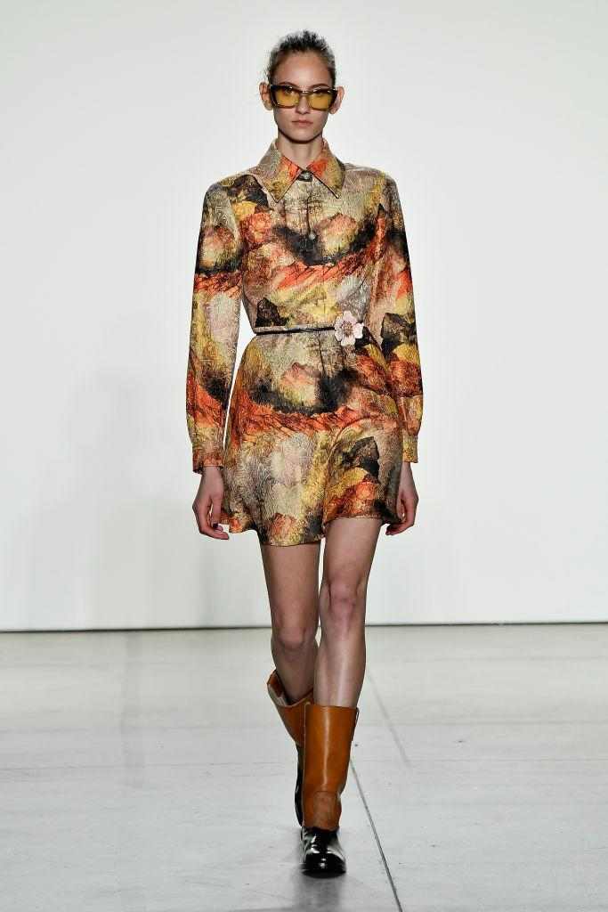 <p>Creatures of the Wind also dressed models in psychedelic prints and sixties-inspired sunnies. Perhaps a sartorial cry for a more hippie state of mind? <em>[Photo: Getty]</em> </p>