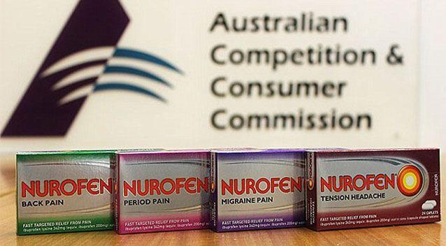 Nurofen has been ordered to stop telling consumers it's more effective than Panadol. Source: AAP