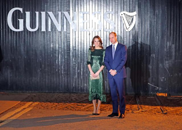 The Duke and Duchess of Cambridge at the Guinness Storehouse. (Press Association)