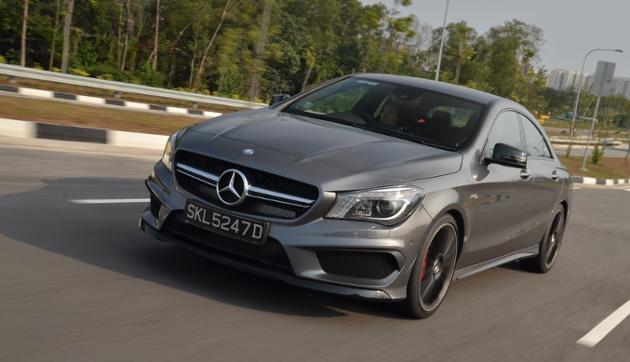 Guerilla warfare? No, just a CLA 45 AMG driving past (Credit: CarBuyer Issue 220)