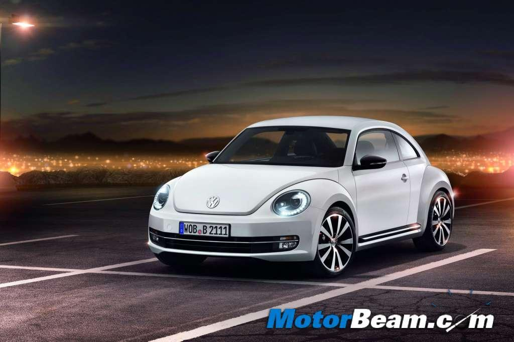 The new Volkswagen Beetle was showcased at the 2012 Auto Expo. It features various changes and will be brought in as a CBU model.