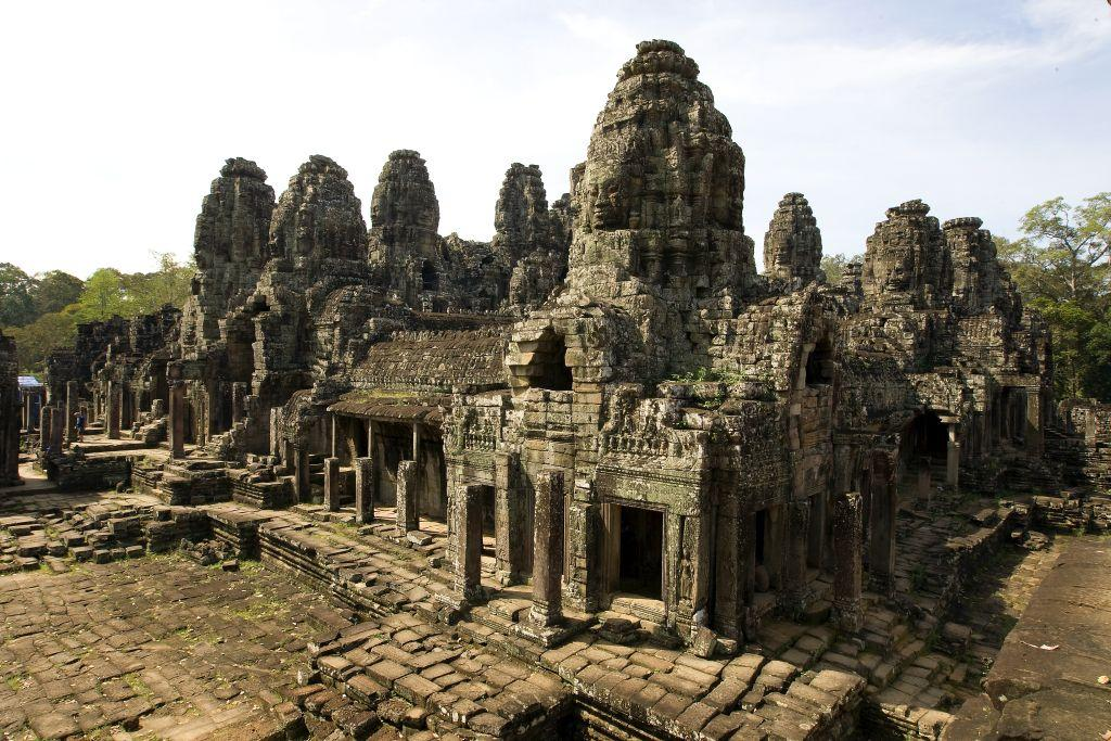 Another view of the Bayon temple at the Angkor Archeological Park in Siem Reap, Cambodia.