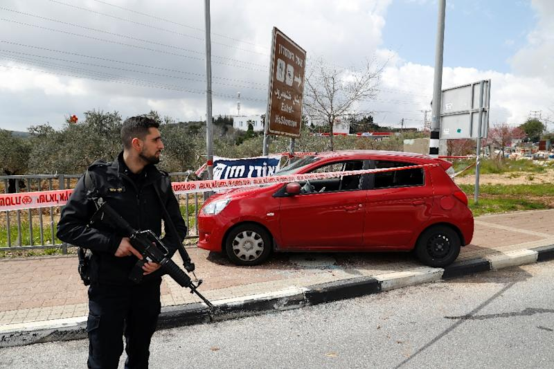 A Palestinian attacked an Israeli soldier with a knife, snatched his weapon and fired at three vehicles, leaving a soldier dead and two other people wounded, according to the Israeli military (AFP Photo/Jack GUEZ)