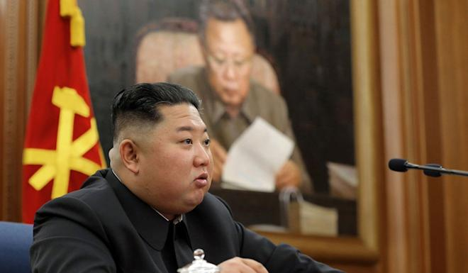 Kim Jong-un at a meeting of the North Korean Workers' Party's Central Military Commission. Photo: KCNA