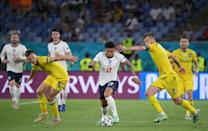 Sancho looked sharp on his first start of the tournament against Ukraine
