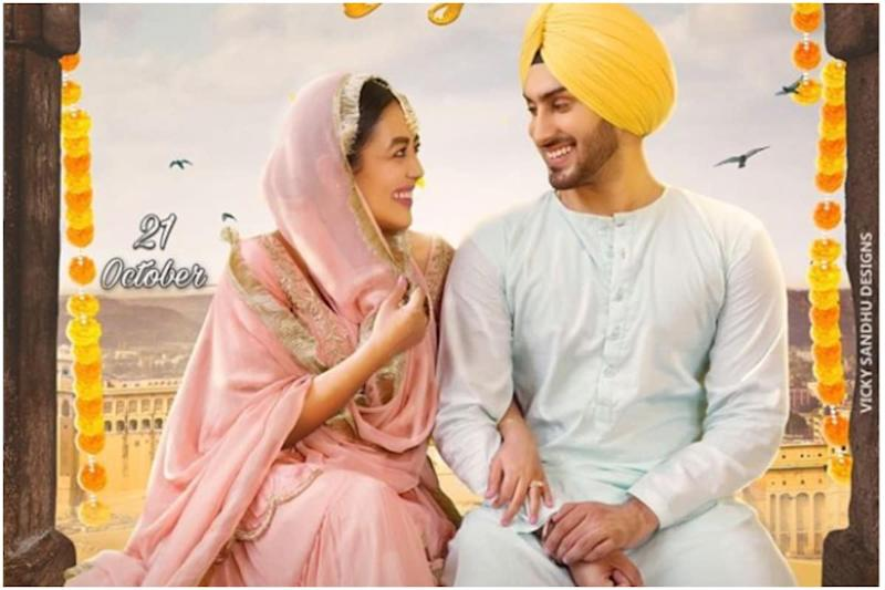 Neha Kakkar Confuses Fans About Wedding with Music Album-Style Poster Featuring Rohanpreet Singh
