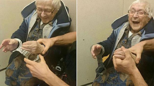 Almost  100-year-old woman fulfills bucket list wish to get arrested