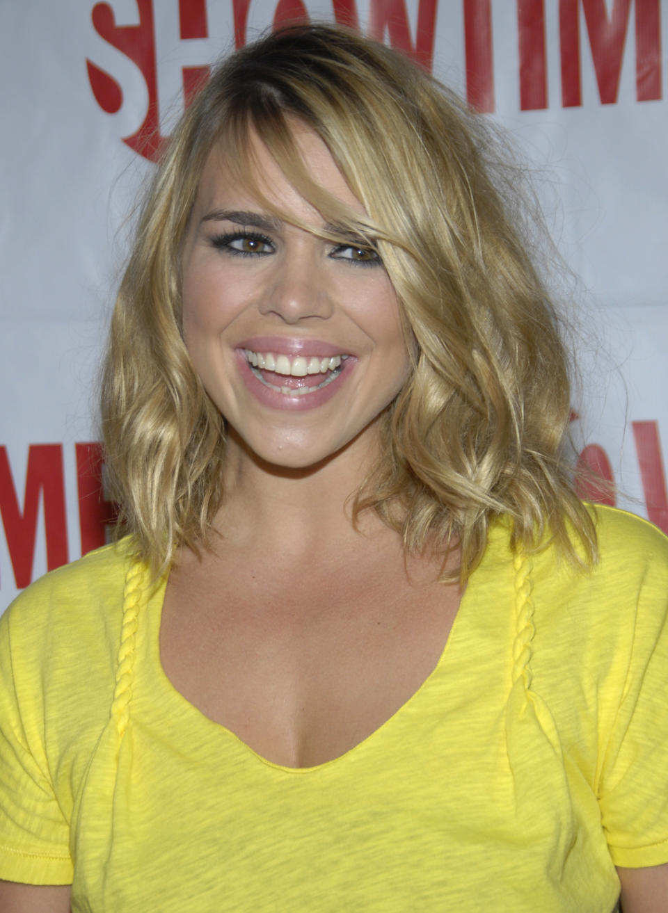 Actress Billie Piper arrives at the Showtime party for the Television Critics Association Winter Press Tour in Los Angeles on Wednesday, Jan. 14, 2009. (AP Photo/Dan Steinberg)