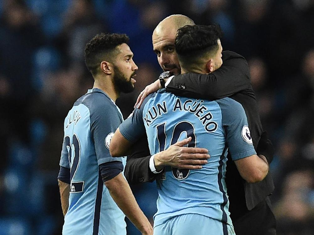 It remains unclear as to whether Pep Guardiola will retain Aguero's services (Getty)