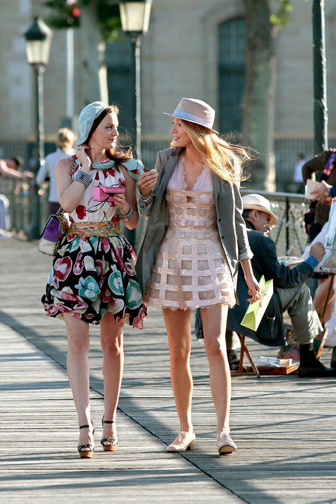 """<p><strong>""""Belles de Jour,"""" """"Double Identity"""" (2010)</strong><br><br>After a drama-filled third season, Blair and Serena (Leighton Meister, Blake Lively) decided to drown their sorrows in Season 4 with a glossy, filmed-on-location summer trip to Paris. But the Chanel and croissants were offset by the arrival of Chuck Bass. Vacation over.<br><br>(Photo: Giovanni Rufino/ The CW/Courtesy Everett Collection) </p>"""