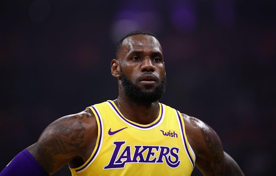 LeBron James is still feeling his way through with the young Lakers. (Getty)