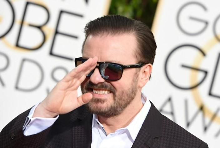 """Ricky Gervais has promised his record fifth stint as Golden Globes host will be his """"very last,"""" meaning there is truly no reason to hold back (AFP Photo/VALERIE MACON)"""