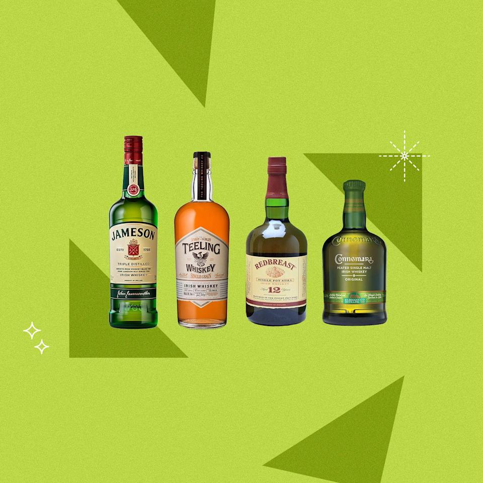 <p>There are a lot of great ways to celebrate St. Patrick's Day (yes, even from home this year). From downing corned beef and paczkis to wearing green, you really can't go wrong. But you really can go RIGHT with ONE thing: drinking Irish whiskey. You might be wondering, what the heck makes an Irish whiskey? Well, a whiskey must spend a minimum of three years maturing in Ireland to be considered an Irish whiskey.</p><p>Here are the best Irish whiskeys you need to get your hands on before St. Patrick's Day.</p>