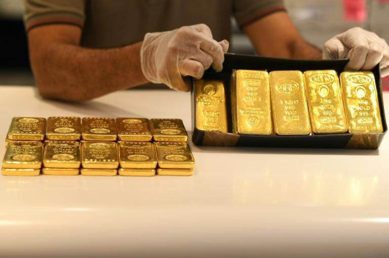 Gold: In great demand during uncertain times (AFP Photo/Karim SAHIB)