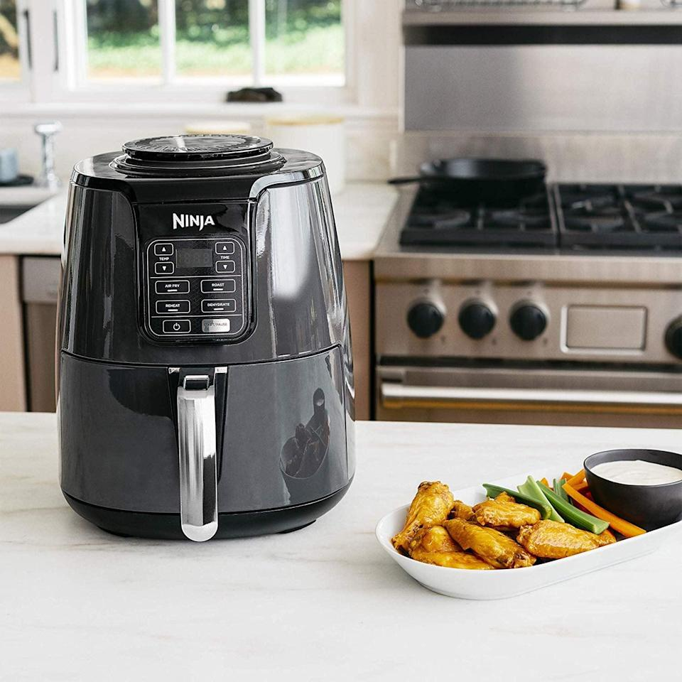 "<p><a href=""https://www.popsugar.com/food/Best-Air-Fryer-44871643"" class=""link rapid-noclick-resp"" rel=""nofollow noopener"" target=""_blank"" data-ylk=""slk:Air fryers"">Air fryers</a> are all the rage right now, and this <span>Ninja Air Fryer</span> ($100, originally $130) is a bestseller on Amazon.</p>"