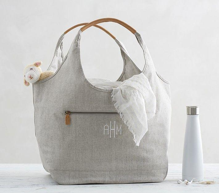 This eco-friendly boho-style diaper bag is perfect for the on-the-go parent. Sturdy, fashionable, and available for monogramming.