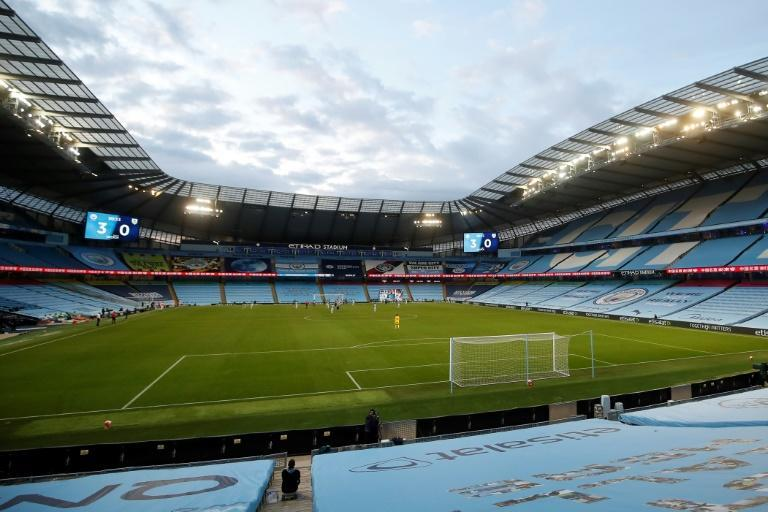 Manchester City risk a two-year ban from Europe for breaching financial fair play rules unless their appeal is upheld (AFP Photo/Martin Rickett)