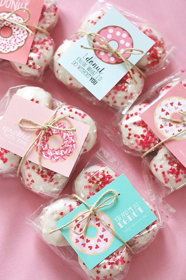 """<p>Talk about a sweet Valentine's Day present.</p><p><strong>Get the tutorial at <a href=""""http://eighteen25.com/2016/01/valentine-donut-printables/"""" rel=""""nofollow noopener"""" target=""""_blank"""" data-ylk=""""slk:Eighteen 25"""" class=""""link rapid-noclick-resp"""">Eighteen 25</a>.</strong><br></p>"""