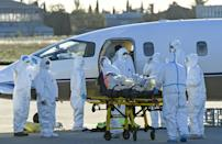 In France, hospitals have warned they are just days away from being overrun with coronavirus patients