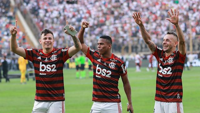 After winning the Copa Libertadores on Saturday, Flamengo were crowned Brasileirao champions on Sunday thanks to Gremio beating Palmeiras.