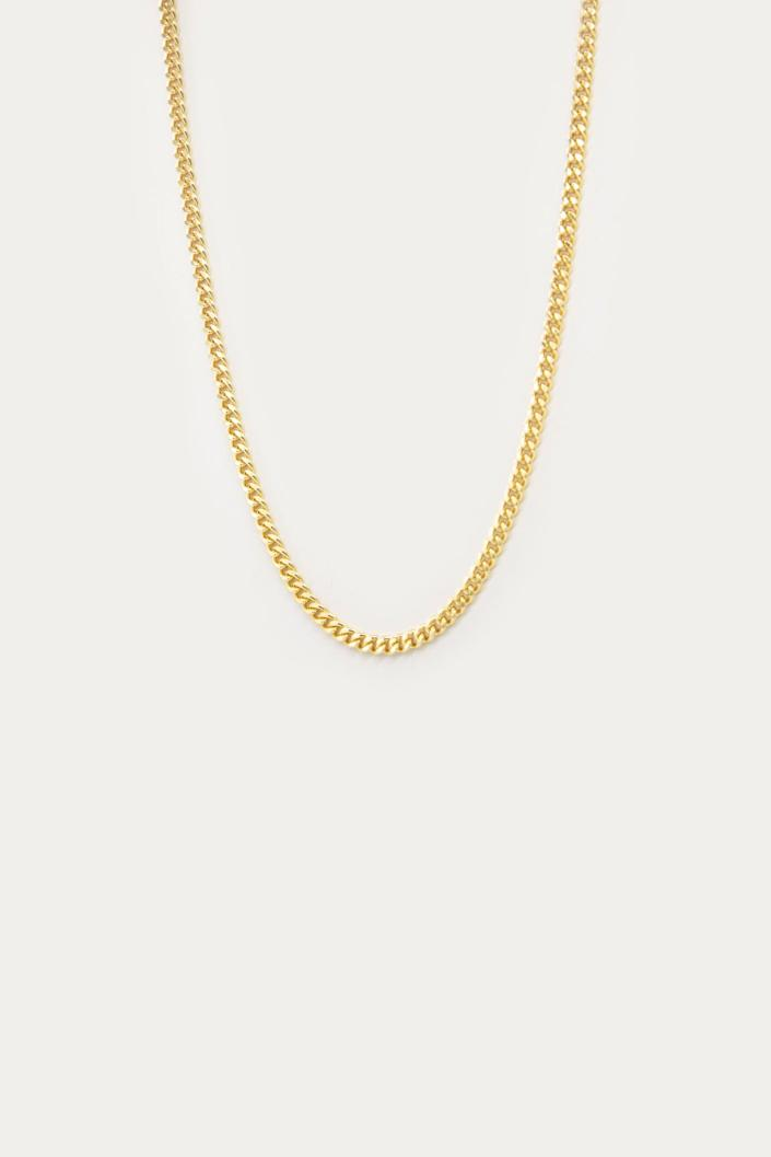"""It's about time you join the <a href=""""https://www.refinery29.com/en-us/2020/05/9779238/mens-jewelry-trend-connells-chain-instagram-normal-people"""" rel=""""nofollow noopener"""" target=""""_blank"""" data-ylk=""""slk:Connell's chain jewelry movement"""" class=""""link rapid-noclick-resp"""">Connell's chain jewelry movement</a>. <br> <br> <strong>Oak + Fort</strong> Necklace 6367, $, available at <a href=""""https://go.skimresources.com/?id=30283X879131&url=https%3A%2F%2Fwww.oakandfort.com%2FNECKLACE-6367%3Flocation%3D%26quantity%3D1%26Size%3DOne%2520Size%26Color%3DGold"""" rel=""""nofollow noopener"""" target=""""_blank"""" data-ylk=""""slk:Oak + Fort"""" class=""""link rapid-noclick-resp"""">Oak + Fort</a>"""