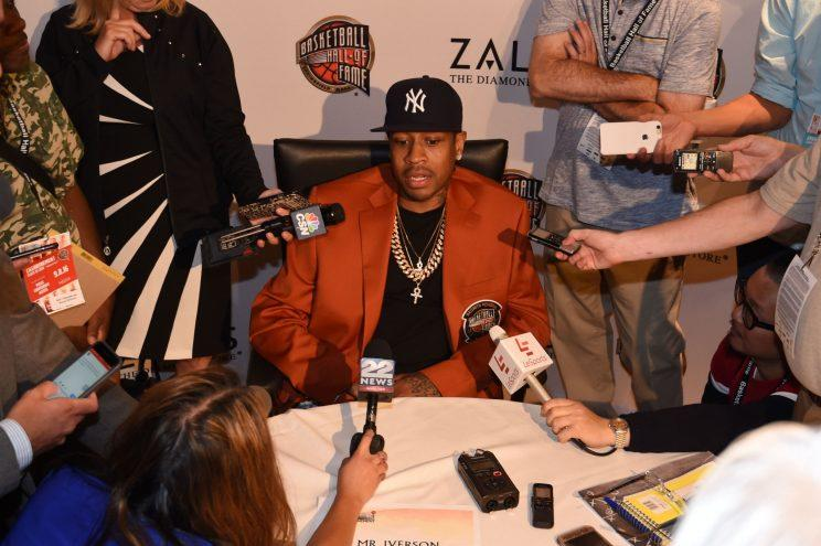 0305ae8a73ea Allen Iverson in his Hall of Fame jacket. (Getty)
