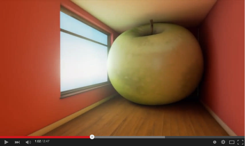 "Screenshot: ""Re-creation of René Magritte's Paintings (Unreal Engine 4 DEMO)"" by Ali Eslami"