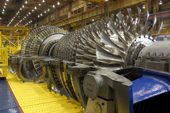 A GE gas turbine