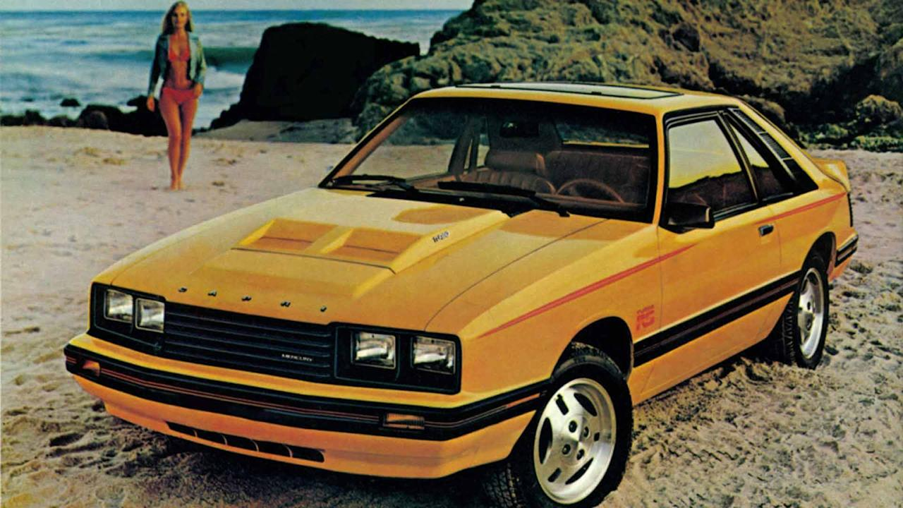 <p><strong>117-hp 2.3-liter turbocharged four-cylinder</strong></p> <p>At this point, the Capri was Mercury's version of the Mustang, sharing the same platform and engine options. So why does it deserve mention here after just seeing the 'Stang? Just look at it. </p> <p>You could have got this turbocharged 2.3-liter mill in the Mustang, too, but Mercury decided to really dress it up by adding a bulging hood and body-color exterior accents. The result looks pretty good for the period until you find out this thing only makes 117 hp and 135 lb-ft. This machine is a real sheep in wolf's clothing.</p> <p>Ford didn't give up in the turbo 2.3, though. Later, the Special Vehicle Operations team got ahold of it and extensive tuning pushed the output as high as 205 hp in the Mustang SVO.</p>