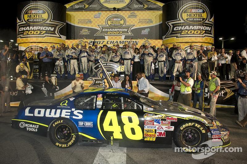 "2007: Jimmie Johnson (Hendrick-Chevrolet)<span class=""copyright"">Kurt Dahlstrom</span>"