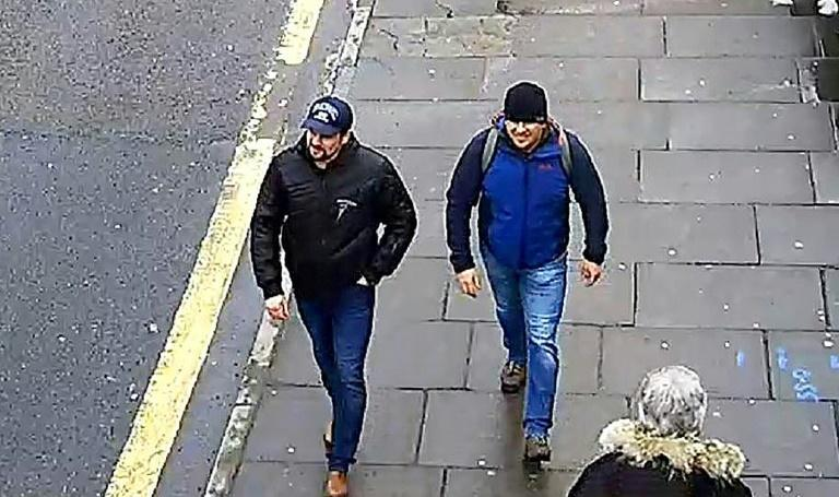London Metropolitan Police issued this photo taken in Salisbury in March 2018 of 'Petrov' (right) and 'Boshirov' as part of their investigation into the attack on Skripal and his daughter