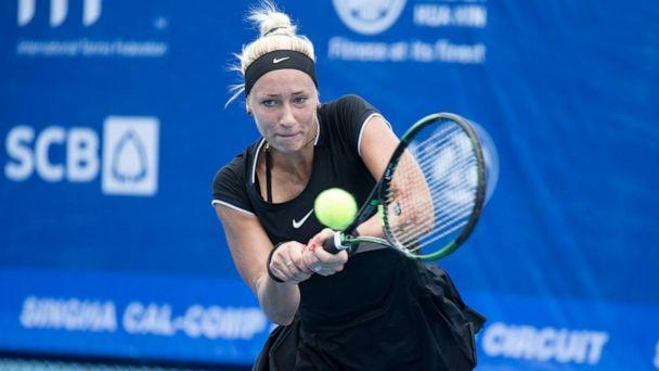 PHOTO: Yana Sizikova of Russia returns plays at the ITF Thailand Women's Pro Circuit 1 on Sept. 19, 2016 in Hua Hin, Thailand. (Mai Groves/Shutterstock, FILE)