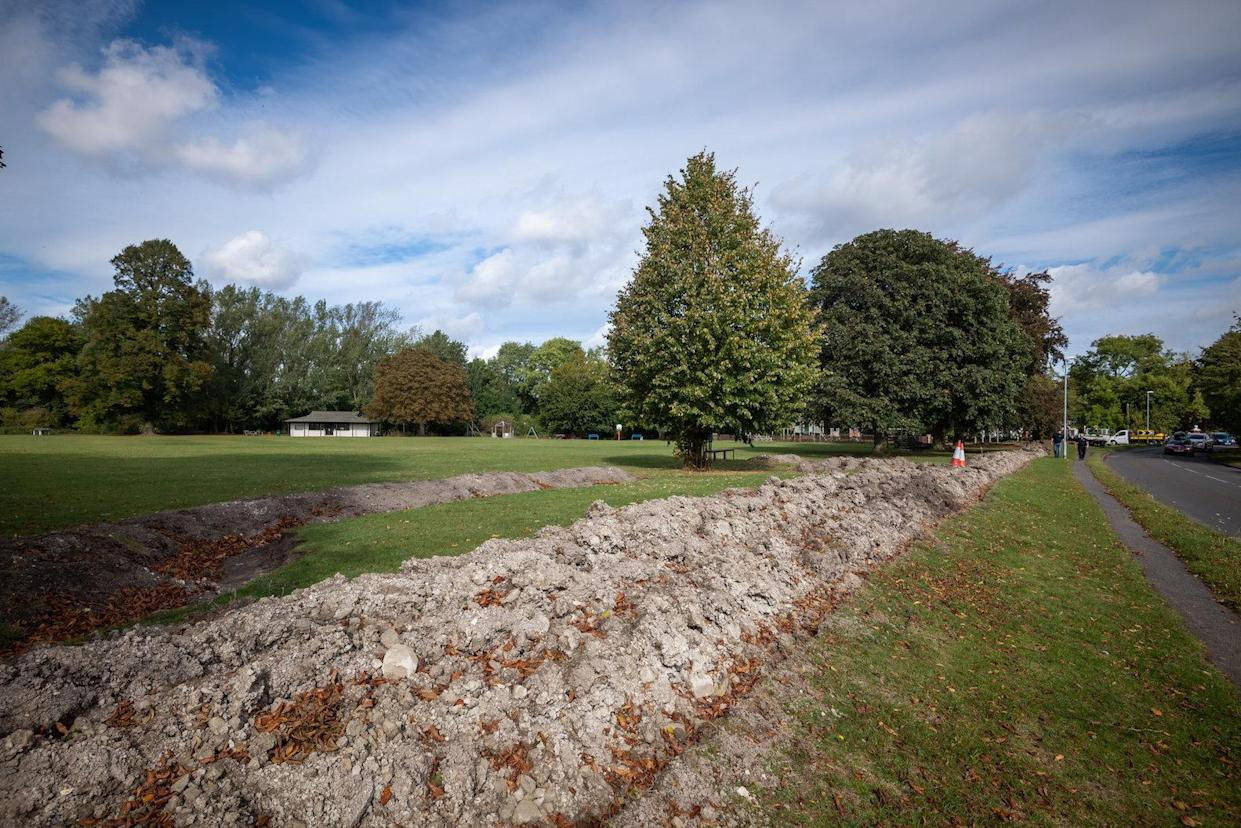 The trenches were installed to stop travellers bringing in their caravans (Picture: SWNS)