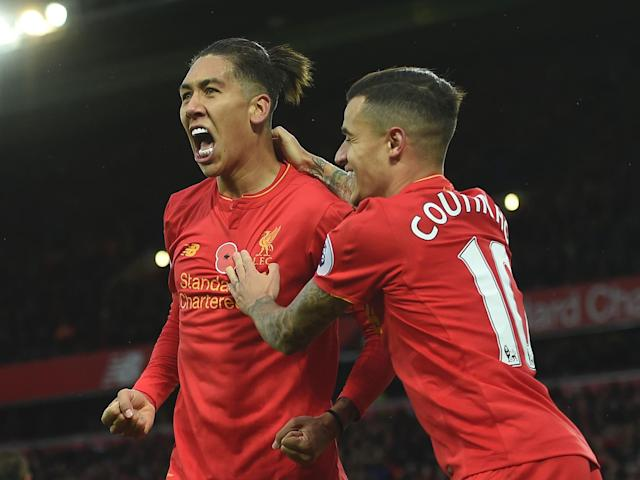 Roberto Firmino and Philippe Coutinho are club and international team-mates: Getty