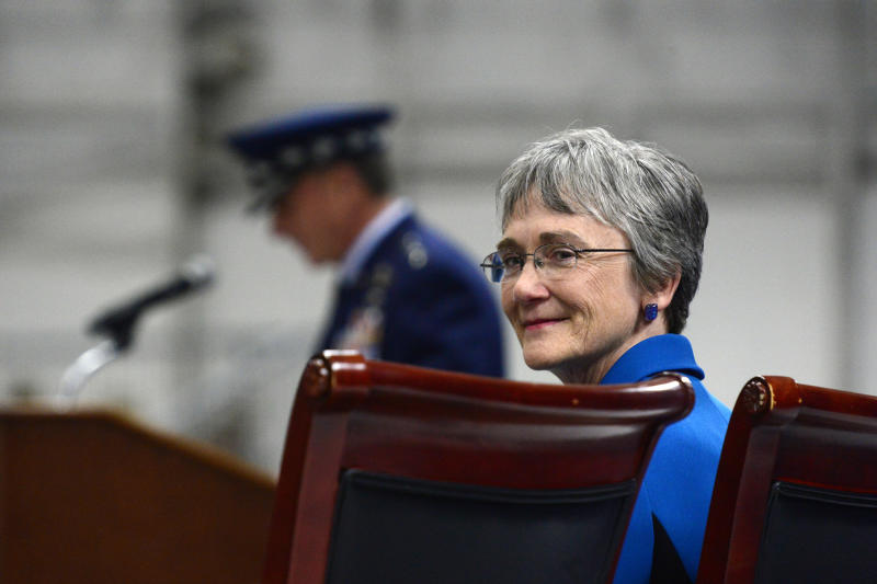Wilson is resigning as the service's secretary to become the next president of the University of Texas at El Paso. Her last day will be May 31.