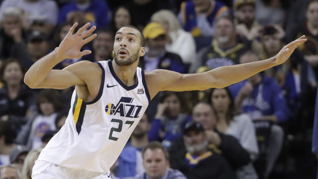 Jazz center Rudy Gobert is making a Defensive Player of the Year push. (AP)