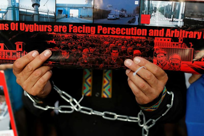 Night Images Reveal Many New Detention Sites for Uighur Muslims in China's Xinjiang Region